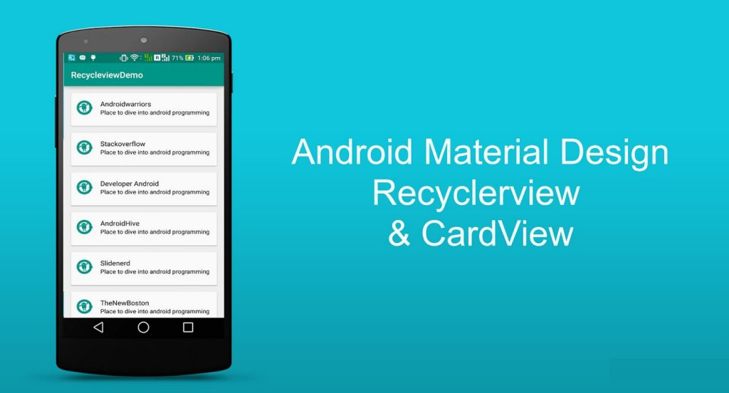 Tutoriel android recyclerview et cardview